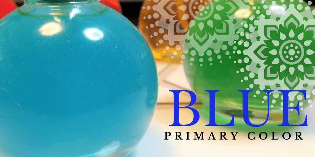 色相環(カラーサークル)の青色・一次色のブルー